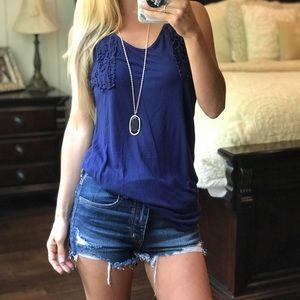 Lauren Conrad Blue Tank Top